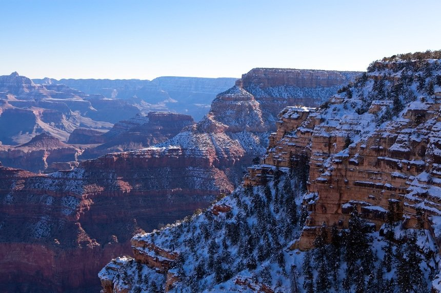 South Grand Canyon Rim in Winter