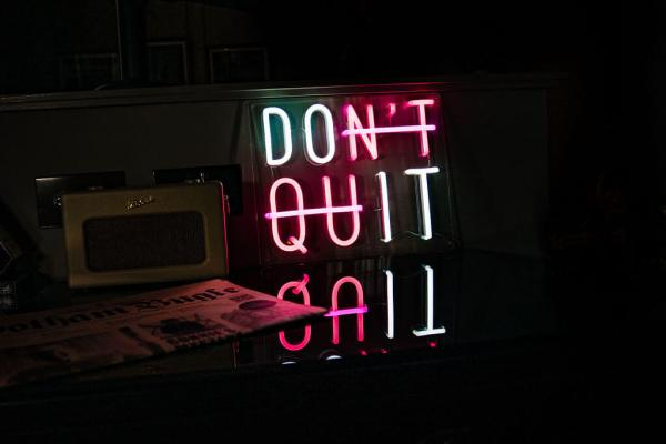 wildfire led neon sign don't quit white red neon sign in bar 1