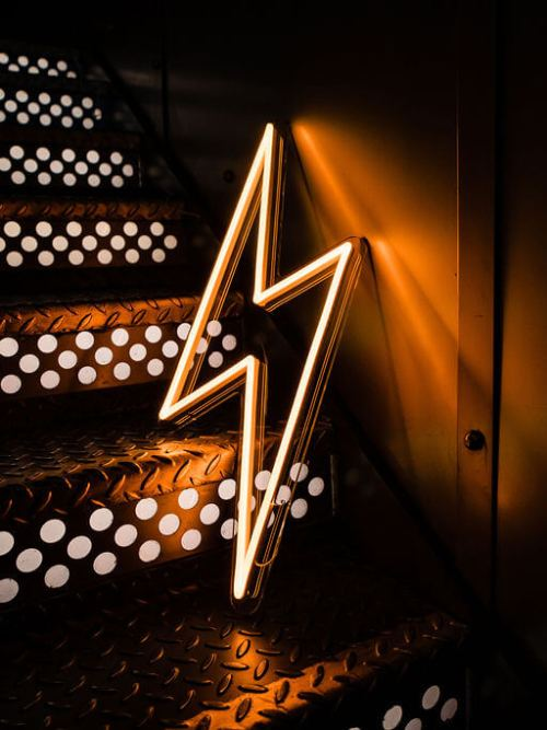 wildfire led neon sign lightning bolt yellow led sign 1