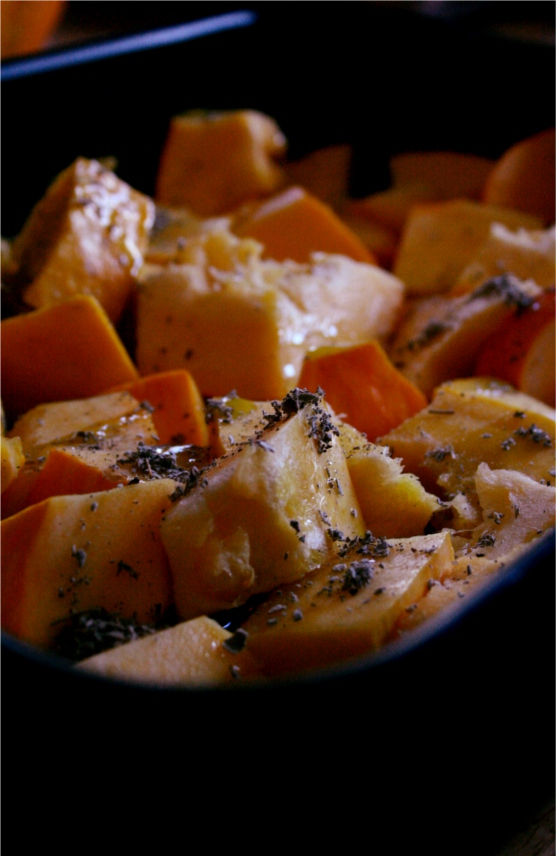 roasted squash with sage