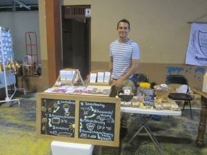 Selling artisan chocolate at the farmer's market--wildheartfood.com