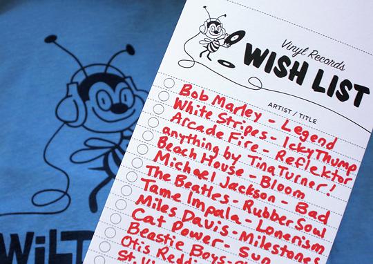 vinyl records wish list