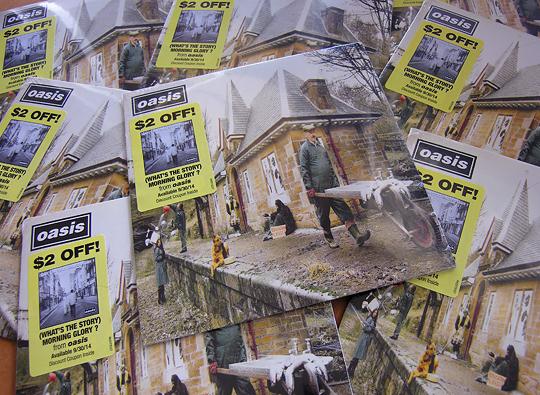 Oasis promo 45 vinyl record