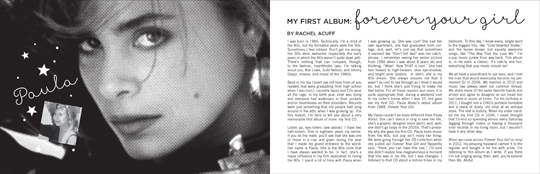 Wild Honey Records ZINE article - Forever Your Girl