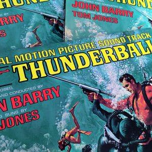 John Barry composer Thunderball Tom Jones vintage vinyl records
