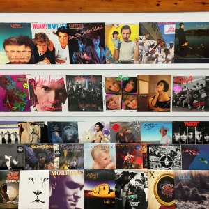1980s vintage vinyl records - Knoxville Oake Ridge record store