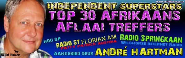 Afrikaans Top30 Aangebied deur André Hartman vir Wildhorse Entertainment