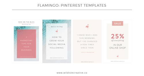 Flamingo - Pinterest Template