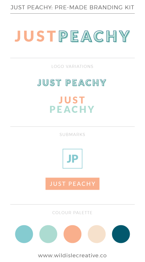 Just Peachy - Brand Design Kit