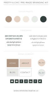 Pretty & Chic - Brand Design Kit