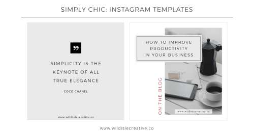 Simply Chic - Instagram Templates