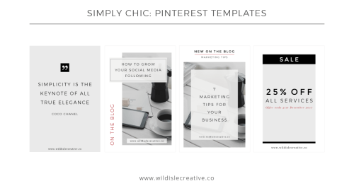 Simply Chic - Pinterest Templates