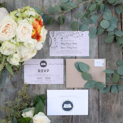 Adam + Haley Stationery