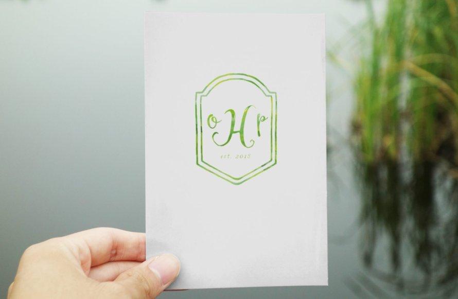 3 Letter Monogram Crest with Date - Wedding logo by Wild Joy Studios