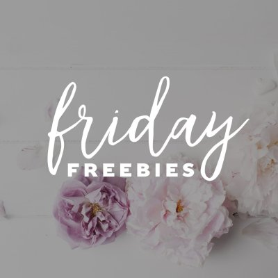 Friday Freebies – Typography Printable