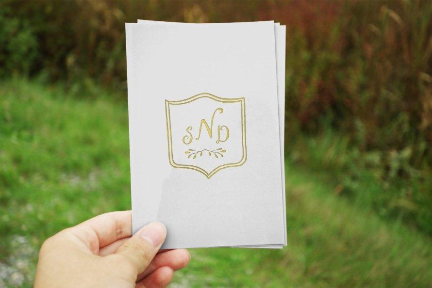 3 Letter Monogram Crest - Wedding logo by Wild Joy Studios