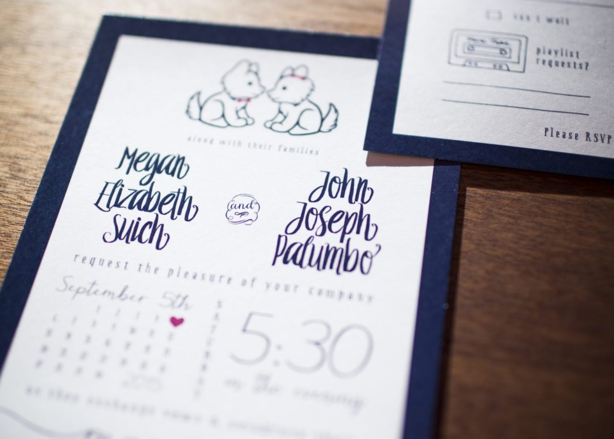 Wild Joy Weddings M+J Wedding Invitation Set by Wild Joy Studios