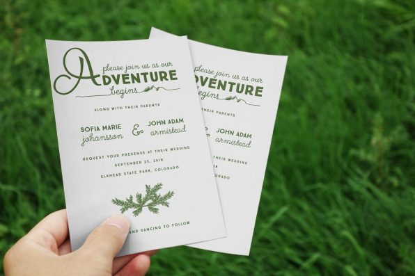 Adventure Invite + Grass and 2 Cards
