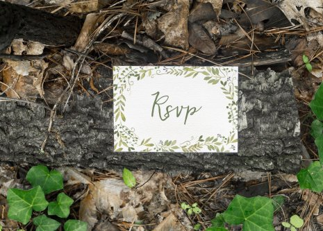 Fairy Garden RSVP - Forest Stationery Mockup 12