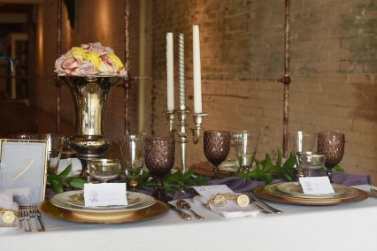 Table scape by China Hutch Rentals