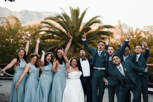 The wedding party | Photo by The Hunters Photography
