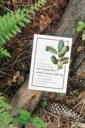 Vintage Oak Invitation - forest stationery mockup 4