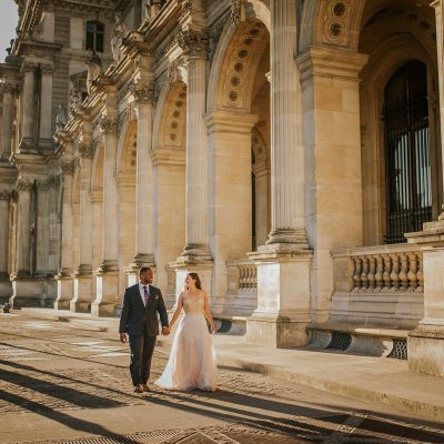 Elopement in the Streets of Paris