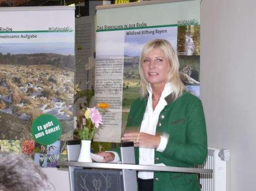 Umweltministerin Ulrike Scharf © Wildland-Stiftung Bayern
