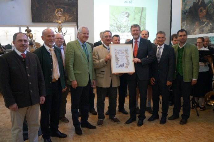 Verleihung des BJV-Naturschutzpreises 2018 an die Jägerschaft im Wegscheider Land©BJV-Pressestelle