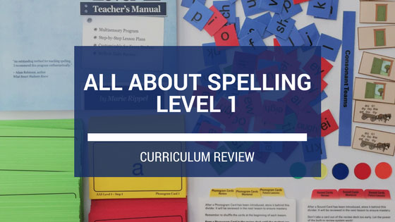 REVIEW: All About Spelling Level 1 + FREE E-book