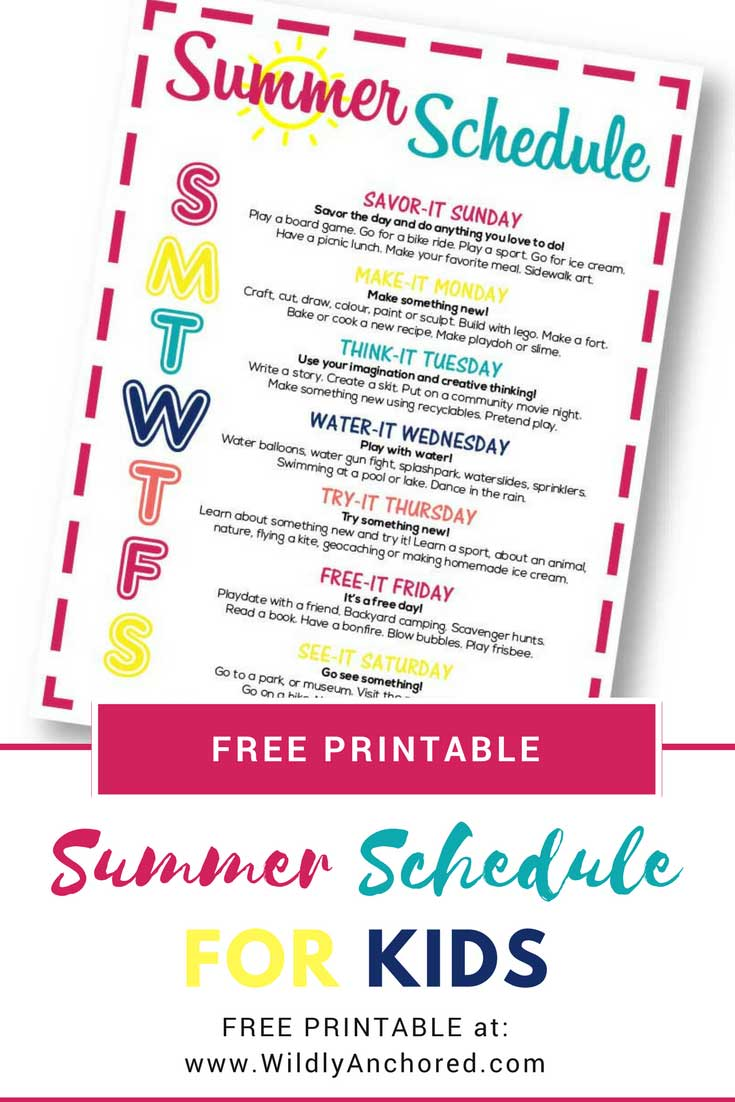 Are you looking to help your children with activities this summer? A summer schedule filled with ideas, creativity and fun is just what a kids and families) need! + FREE Summer Schedule Printable #summeractivities #summerschedule #summerroutine
