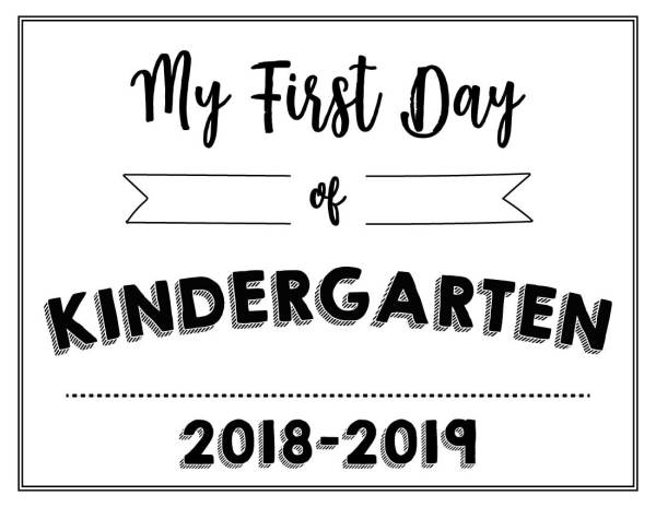 My First Day of Kindergarten Printable - Wildly Anchored