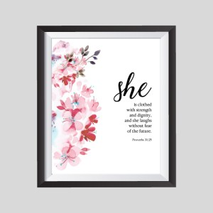 "She is Clothed (Printable) 8""x10"" - Wildly Anchored"