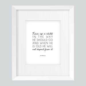 "Train Up A Child (Printable) 8""x10""- Wildly Anchored"