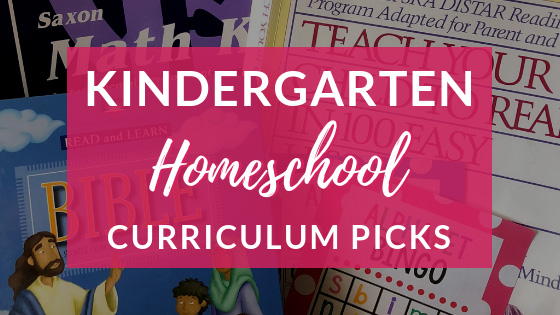 Kindergarten Homeschool Curriculum Picks for 2018-2019