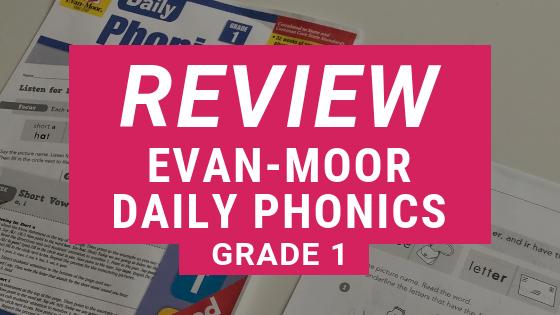 REVIEW: Evan-Moor Daily Phonics Grade 1 E-book
