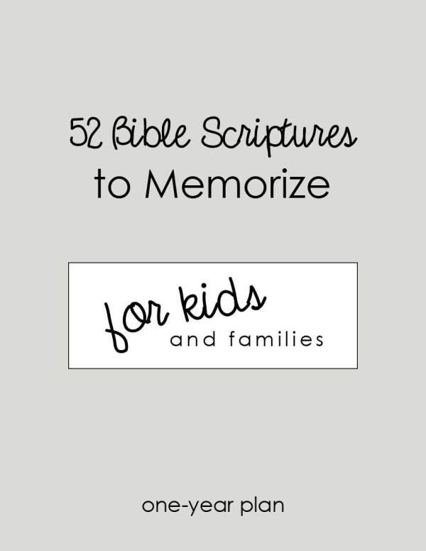 52 Bible Scriptures for Kids to Memorize (Printable)