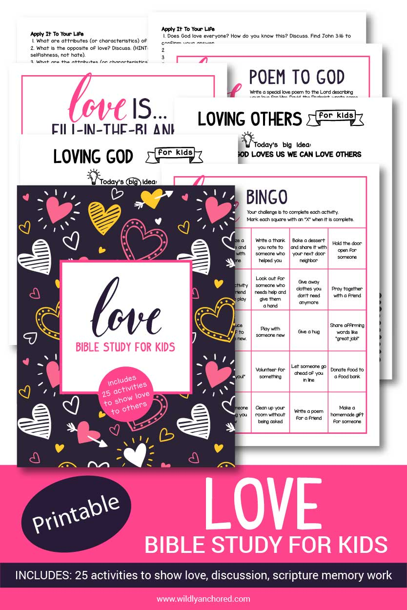 Help your discover that God is love, they are loved by God and designed to love their neighbor. Includes Bible reading, discussion questions, scripture memory work, activities and more!
