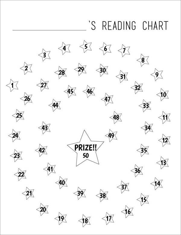 Reading Chart for Kids (Printable)