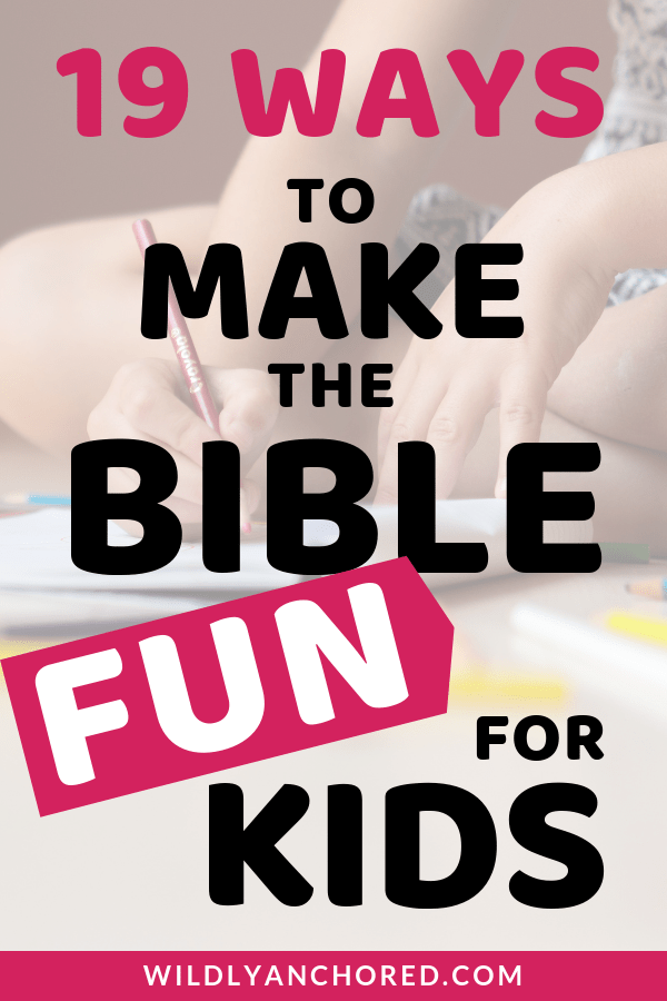 Here are 19 ways to make the Bible fun for kids! + FREE Love Bingo for kids printable #christianfamily  #bible  #biblestudy  #biblejournaling  #bibleactivities  #biblegames  #biblefun  #bibleverse  #bibleforkids