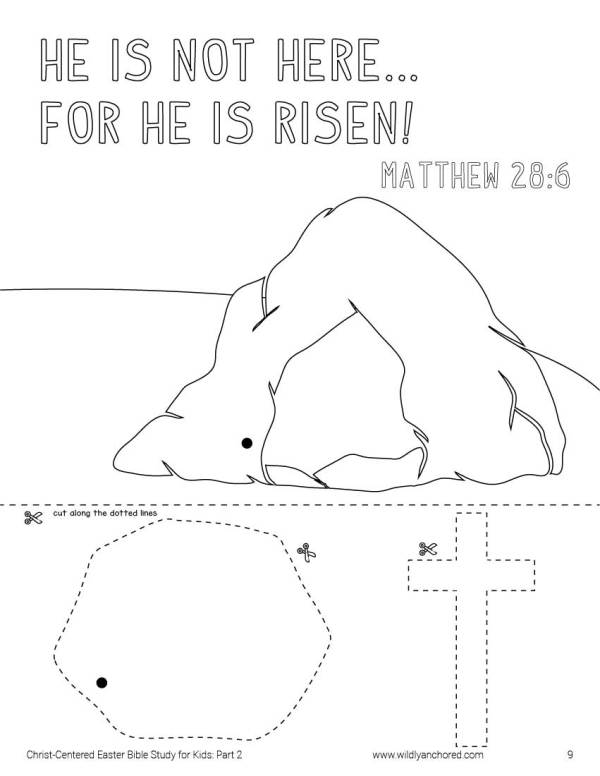 Christ-Centered Easter Bible Study for Kids for Ages 7-11 including activities, prompts, scripture writing and memory work! #BibleStudyForKids #BibleStudiesForKids #Easter