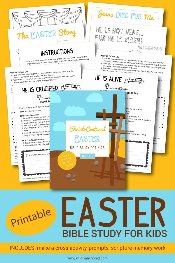 Dig deeper into the Easter Bible story with your kids! Includes activities, prompts, scripture writing, memory work and more!