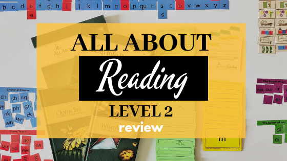 A detailed and in-depth review of All About Reading Level 2 - including what we liked and didn't like, what we changed and how success in reading was achieved! #allaboutreading #homeschoolreading #learningtoread