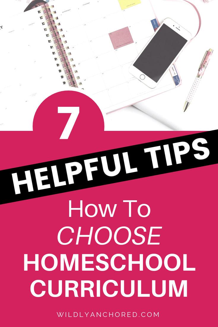 7 Helpful Tips on How To Choose Homeschool Curriculum + FREE Homeschool Plan Checklist