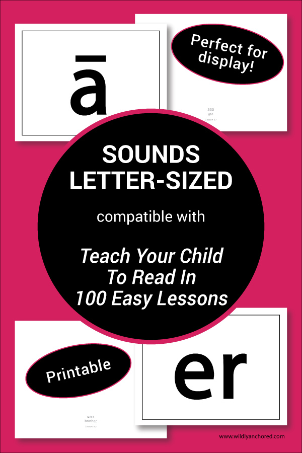 Letter-Sized Sound Posters compatible with Teach Your Child To Read In 100 Easy Lessons! Printable and perfect for display!