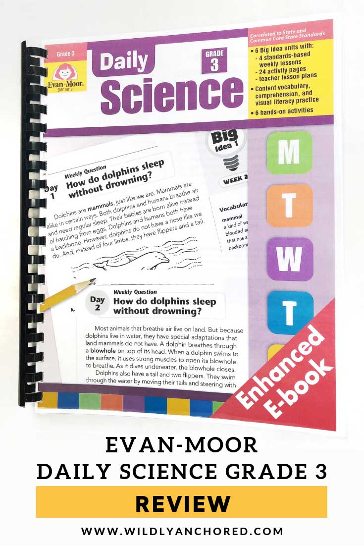 Evan-Moor Daily Science Grade 3 is open-and-go with short lessons, packed full of information, including vocabulary, copywriting, hands-on activities and more! #evan-moor #evanmoor #homeschoolcurriculum #homeschoolscience