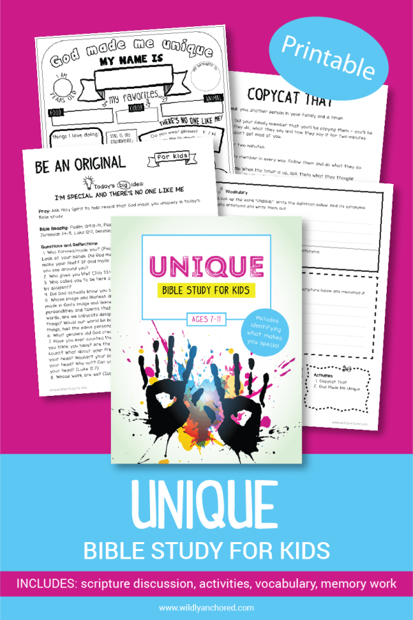 Help your kids discover their uniqueness with this ne their light for Jesus with this Unique Bible Study For Kids!