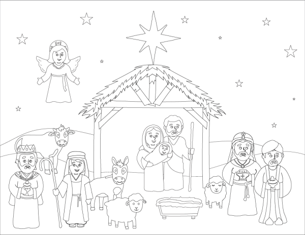 Coloring Page: Christ-Centered Christmas Bible Study For Kids