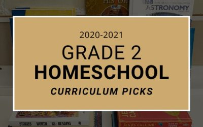 2020-2021 Grade 2 Homeschool Curriculum Picks
