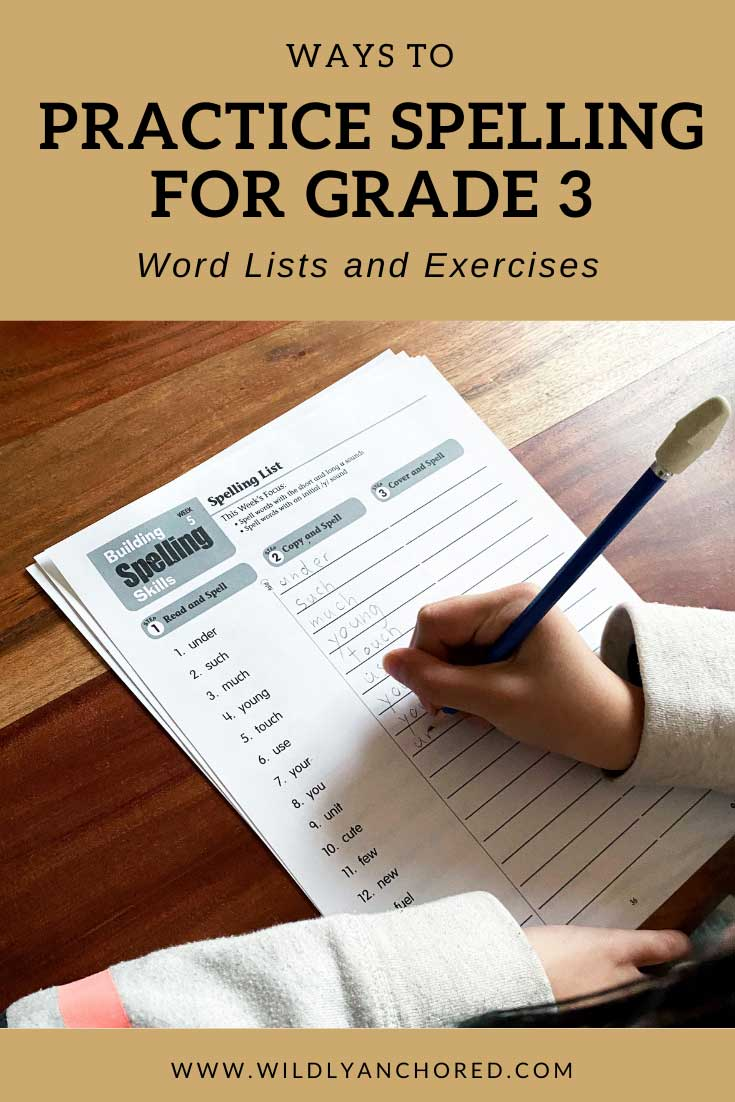 Ways To Practice Spelling For Grade 3